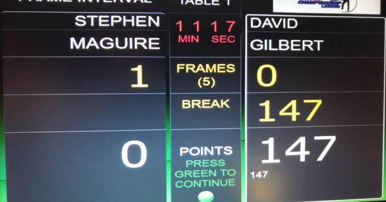 Победа Селби и 147-й максимум Гилберта