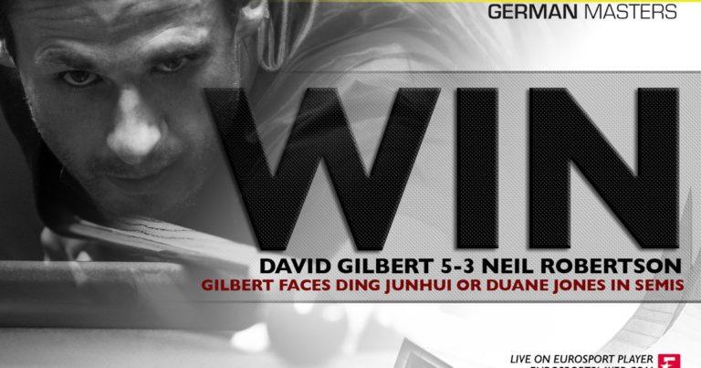 German Masters: Дэвид Гилберт за один день обыгрывает Селби и Робертсона