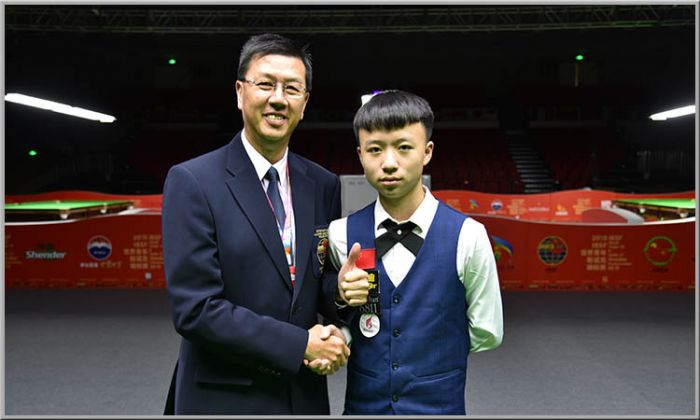 Цзян Цзюнь — чемпион мира по снукеру среди игроков до 18 лет