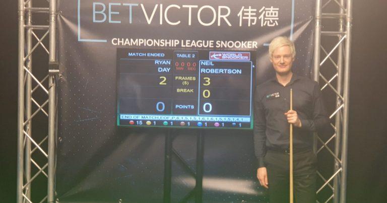 Нил Робертсон — победитель первого турнира Лиги Чемпионата!
