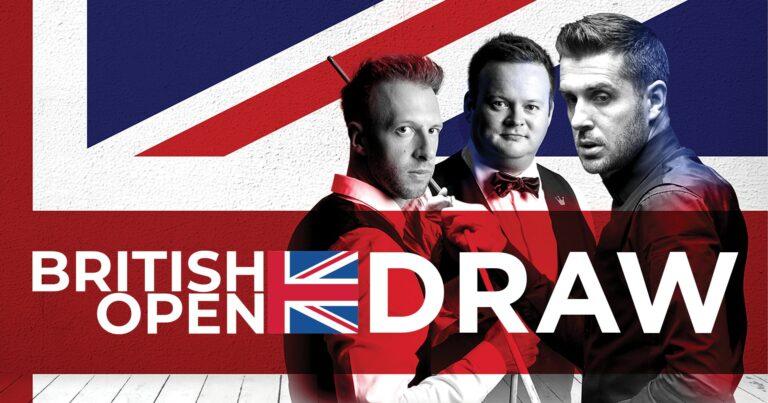 Жеребьевка British Open 2021